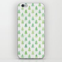 Simple Pine Tree Forest Pattern iPhone & iPod Skin