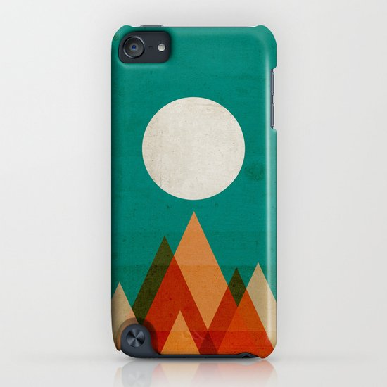 Full moon over Sahara desert iPhone & iPod Case