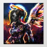 metal angel Canvas Print