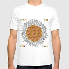 Calendar 2014 - Sunflower White SMALL Mens Fitted Tee