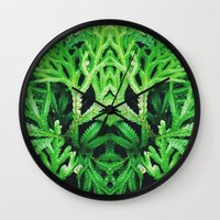 50 Shades Of Green (4) Wall Clock
