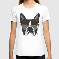 Four Eyes Womens Fitted Tee White SMALL