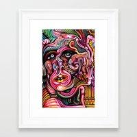 Inner Squirmoil Framed Art Print