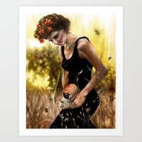 Persephone And The Bees Art Print
