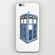The Tardis iPhone & iPod Skin