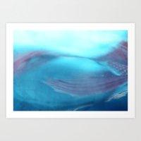 Under The Sea~ Aqua/salm… Art Print