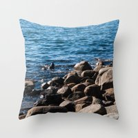 Rocks On The Water Throw Pillow