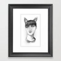 Cat Lady Framed Art Print