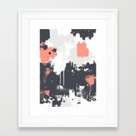 Abstract Paint Pattern 0… Framed Art Print
