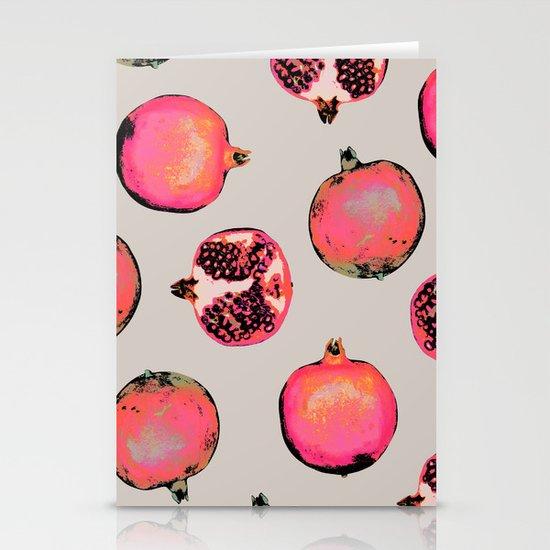 Pomegranate Pattern Stationery Card