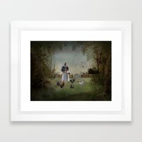 Collecting the Eggs Framed Art Print