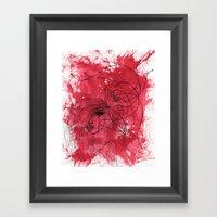 The Mean Reds Framed Art Print