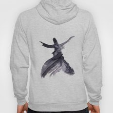 whirling dervish - sufi meditation - ink wash Hoody