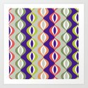 retro beads stripe Art Print