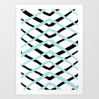 Pattern, Turquoise And B… Art Print