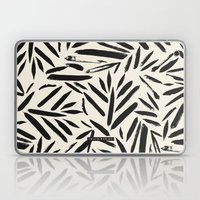 Not So Black and white leaves Laptop & iPad Skin