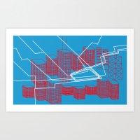 Chicago EL Train Art Print