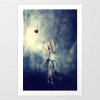 Forever chasing love Art Print