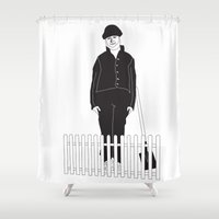 Friendly neighbor Shower Curtain