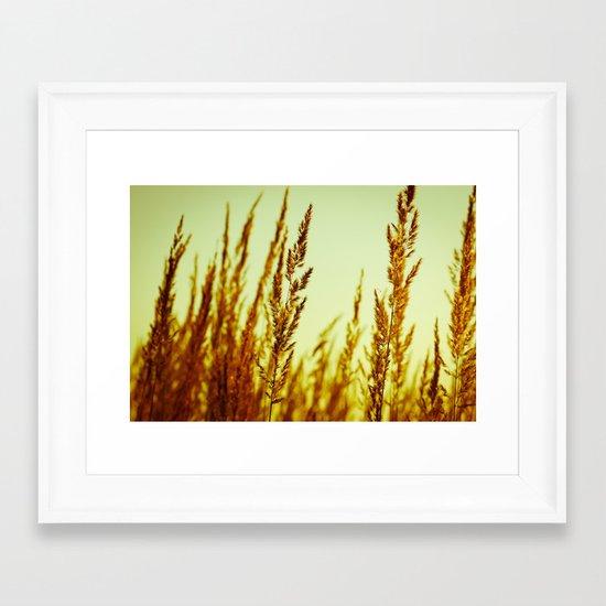 whispering grasses I Framed Art Print