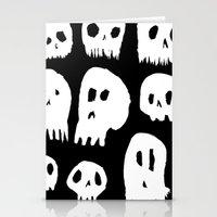 Spooky Skulls Stationery Cards