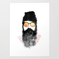 Hipster Chillin Art Print