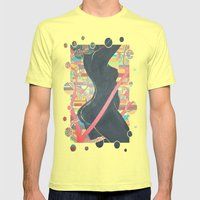 Forbidden Fruit: The Fall of Eve In The Garden Of Eden Mens Fitted Tee Lemon SMALL
