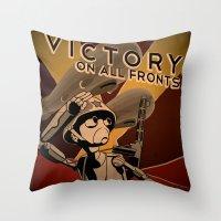 Propaganda Series 4 Throw Pillow