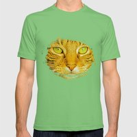 SPARKLE CAT Mens Fitted Tee Grass SMALL