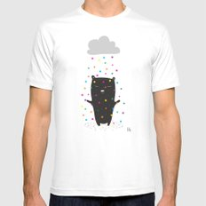 The Happy Rain SMALL Mens Fitted Tee White