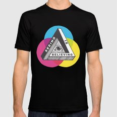 Seeing is Believing SMALL Mens Fitted Tee Black