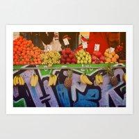 Athens: Fruit Stand Art Print
