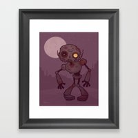 Rusty Zombie Robot Framed Art Print