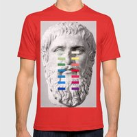 Sculpture With A Spectrum 1 Mens Fitted Tee Red SMALL