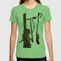The Wild Unknown  Womens Fitted Tee Grass SMALL