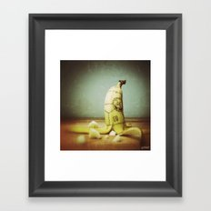 Moby's Little Idiot in a Banana Crash Framed Art Print