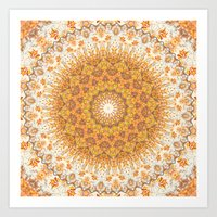 Autumn Gatherings --  Thanksgiving Abundance Mandala  Art Print