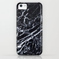 iPhone 5c Case featuring Real Marble Black by Grace