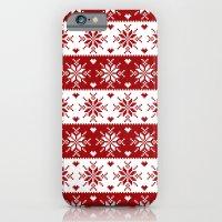 Red Fair Isle Christmas … iPhone 6 Slim Case
