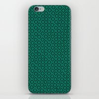 Teal Pattern iPhone & iPod Skin
