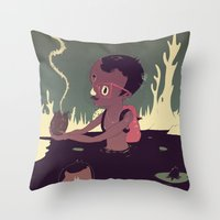 Black-water coconut Throw Pillow