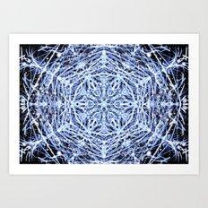 Cosmic Snowflake Art Print