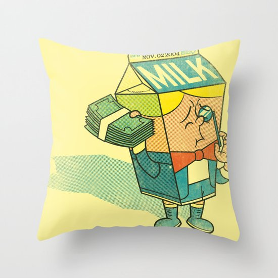 Spoiled Milk Throw Pillow