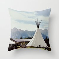 Mountain Life Throw Pillow