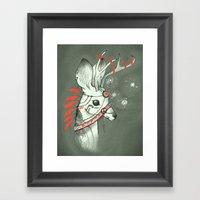 Mossy Deer Framed Art Print
