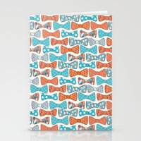 Geometric Bows Stationery Cards