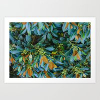 Tropical Autumn Art Print
