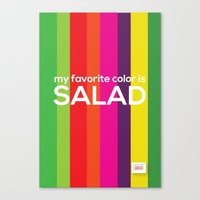 My favorite color is salad Canvas Print