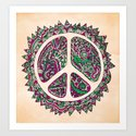 Peace Vainilla Art Print