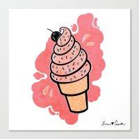 Ice Cream Canvas Print